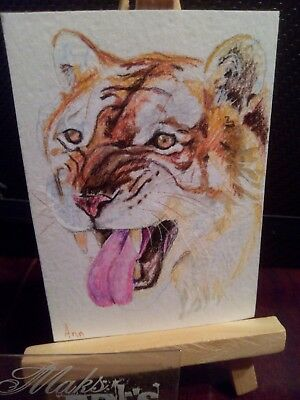 Original ACEO  dec 6 Big Cat