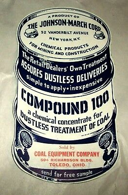 Coal Equipment Co. vintage ink blotter figural advertising Compound 100 unused