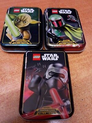 Lego Star Wars Series 1 Trading Card Collectors Tin & 5 Cards   Choose Your Tin
