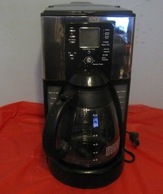 Mr Coffee Sunbeam 12 Cup Programmable Maker G Black Silver Ftx41cp