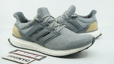 ADIDAS ULTRA BOOST 3.0 Grey Leather Cage Suede Mens 10.5