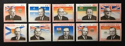 Canada #1709a-1709j MNH, Provincial Premiers Set of Stamps 1998