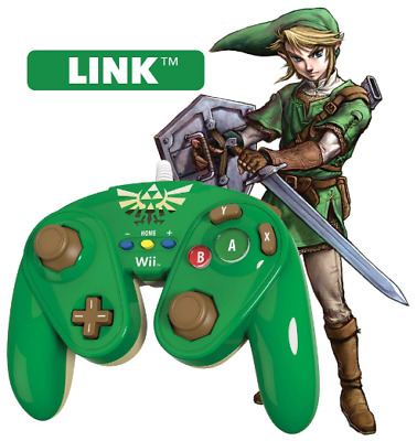 Nintendo Wii U GameCube Style Fight Pad Wired Controller - Zelda (PDP)
