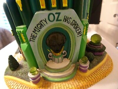 """Wizard of Oz """"The Emerald City"""" Storybook Collection Department 56 - Used  (hmtp"""