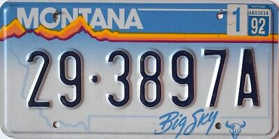USA Number Licence Plate MONTANA BIG SKY