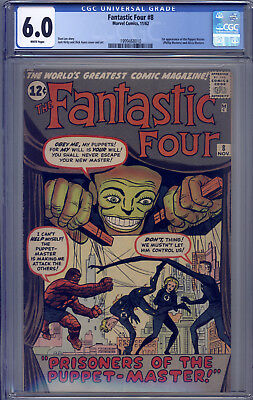 Fantastic Four #8 CGC 6.0 Lee, Kirby, Ayers, 1st Puppet Master, Alicia Masters