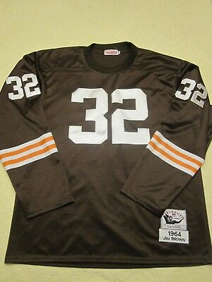 newest 1544e a0c80 jim brown throwback jersey mitchell