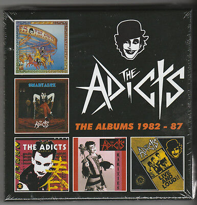 The Adicts Albums 1982-1987 5 cd disc box set Sound Of Music Smart Alex Rarities