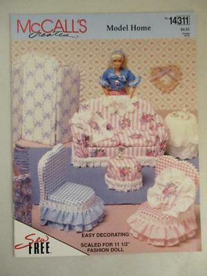 McCall's Barbie Model Home Doll House Dollhouse Furniture to Make Patterns
