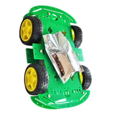 DIY 4WD Smart Tracking Robot Car Electronic Kit With Reduction Motor Set NEW