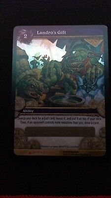 World of Warcraft WOW TCG LANDRO'S GIFT Unscratched Loot Card