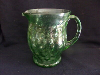 Large Green Depression Glass Jug