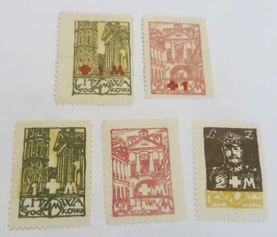 Lithuania 1921 Red Cross and White Cross Fund sets unused