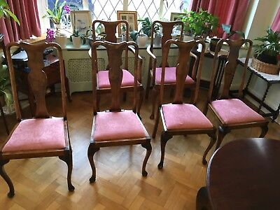 Set of 4 Antique Dining Chairs & 2 carvers