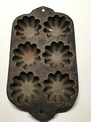 Vintage Cast Iron Turk Head Muffin Pan