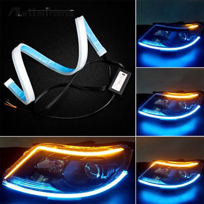 1 Pair 30cm Flexible Tube LED Strip Daytime Running Light Turn Signal Lamp Decor