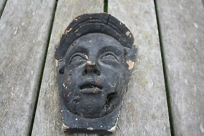Antique Architectal Salvage Wooden Head