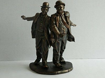 Bronze Cast Resin Screen Legends Laurel And Hardy Ornament Figure