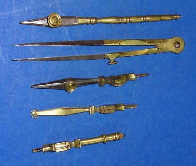 19thC Antique Engineers Drafting Tools Set
