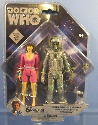 Doctor Who Peri and Rogue Cyberman Figure Set  Attack of the Cybermen New Sealed
