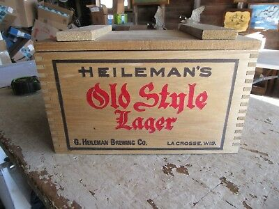 """Very Rare Miniature Wood Beer Crate Heileman's Old style 6"""" x 9"""" x 6"""" Lot 19-2-5"""