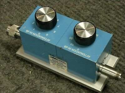 Midwest Microwave Model 1044 Step Attenuator  0-69 dB / dc-18 GHz