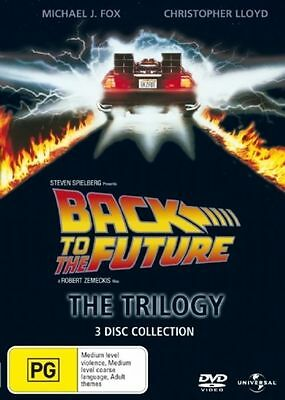 Back To The Future - The Trilogy (DVD, 2008, 3-Disc Set) good Region 4
