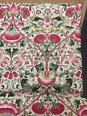 "Per Mtr WILLIAM MORRIS CURTAIN FABRIC DESIGN ""Lodden"" ROSE/THYME DARP222524"