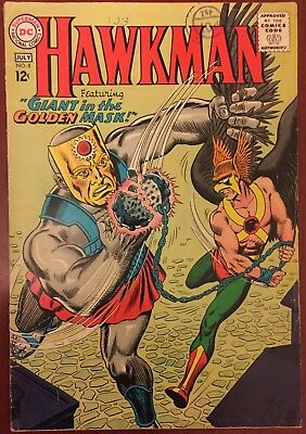 "DC =Hawkman= #8 VG/FN (5.0) Silver Age comic ""Giant in the Golden Mask"" 1965"