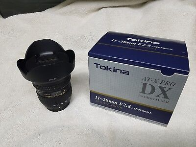 Tokina 11-20mm F2.8 AT-X Pro DX Lens Nikon Fit Wide angle lens - NOT 11-16,