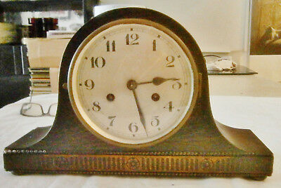 Napoleon Hat  mantle clock with chimes, fully tested, working