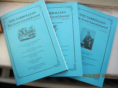 The CARROLLIAN Journal of the Lewis Carroll Society  3 copies 2017-18