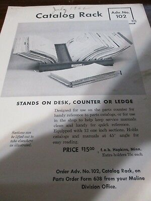 Minneapolis-Moline Dealer Catalog Rack Sales Brochure 1962