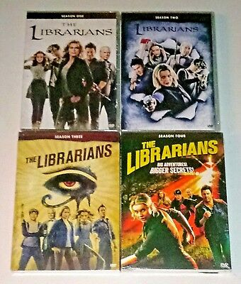 New! The Librarians: Complete Series 1-4 1 2 3 4. 12 Disc Dvd Bundle. Ships Free