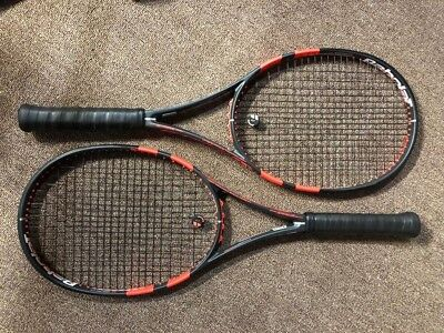 Babolat Pure Strike 16x19  (2)  Racquets - 2014  (4 1/2 grips) MINT CONDITION