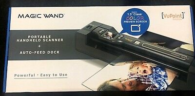 NIB VuPoint Magic Wand 4 Photo Document Scanner w/ Software and Docking Station