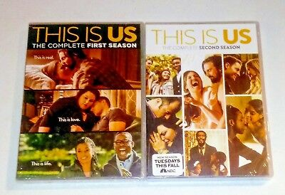 Brand New! This Is Us: Seasons 1 & 2, 1 2. 10 Disc Bundled Dvd Set. Ships Free