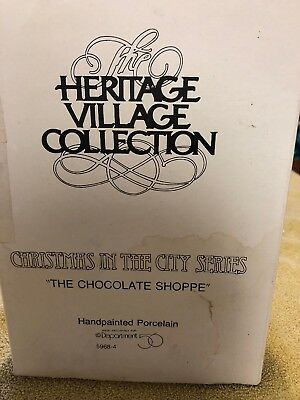 """Department 56 Heritage Village Collection """"The Chocolate Shoppe"""""""