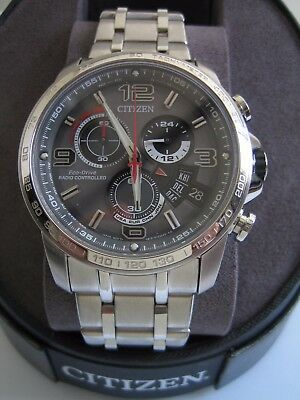 Citizen Eco Drive Watch Mens By0100-51H Chrono Time A-T Radio Controlled Genuine
