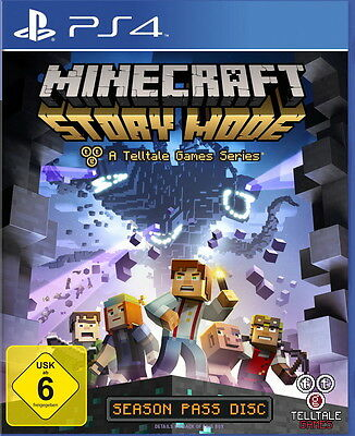 Minecraft: Story Mode - A Telltale Games Series (Sony PlayStation 4, 2015, DVD-B