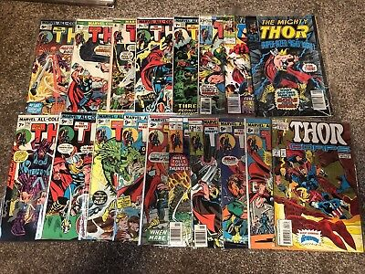 THE MIGHTY THOR Job Lot Of  Vintage Marvel Comics Stan Lee