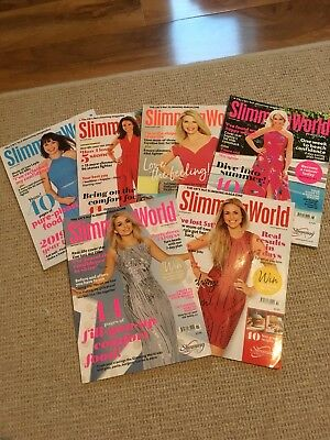 6 x Slimming world Magazines Including current edition (Jan/Feb 2019)