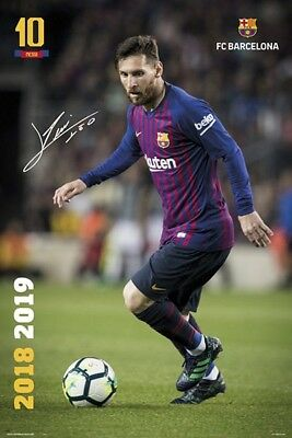 LIONEL MESSI - 2019 BARCELONA POSTER - 24x36 FOOTBALL SOCCER FC 34339