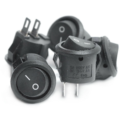 Small Round Rocker Switches 16mm Boat Button Mini 2 Pin ON-OFF Switch. 0383