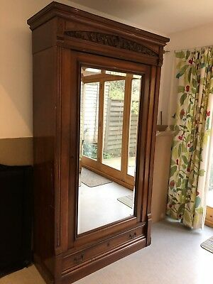 Victorian Walnut Wardrobe