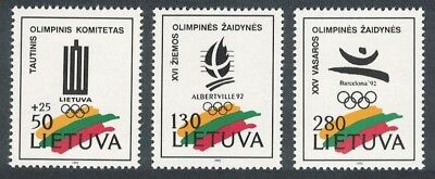 SALE Lithuania Winter Olympic Games Albertville 3v MNH SG#501-503 FREE POSTAGE