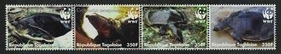 SALE Togo WWF Senegal Flapshell Turtle Strip of 4v MNH SC#2039a-d MI#3337-3340