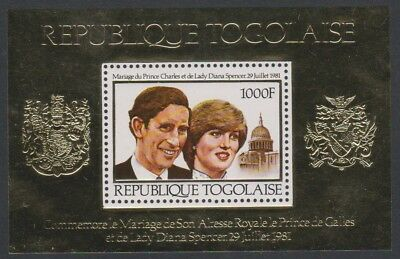 SALE Togo Charles and Diana Royal Wedding Golden Foil MS MNH SC#1106 MI#Block