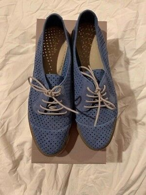 """NEW Clarks """"Griffin Maddy"""" Mid Blue Nubuck Lace Up Casual Shoes UK 7 D"""