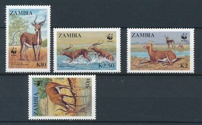 [87894] Zambia Fauna WWF good set Very Fine MNH stamps